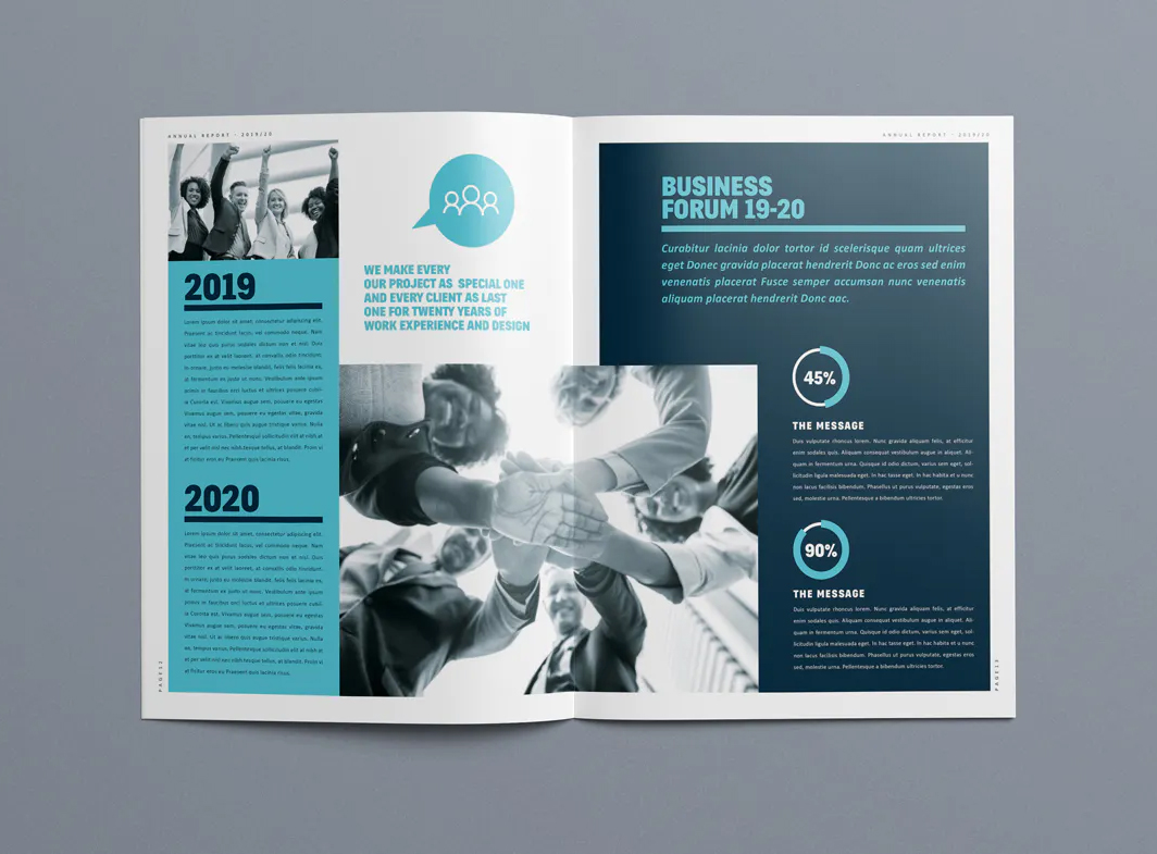 Annual report brochure design INDD