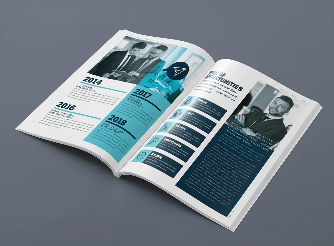 Annual report brochure design