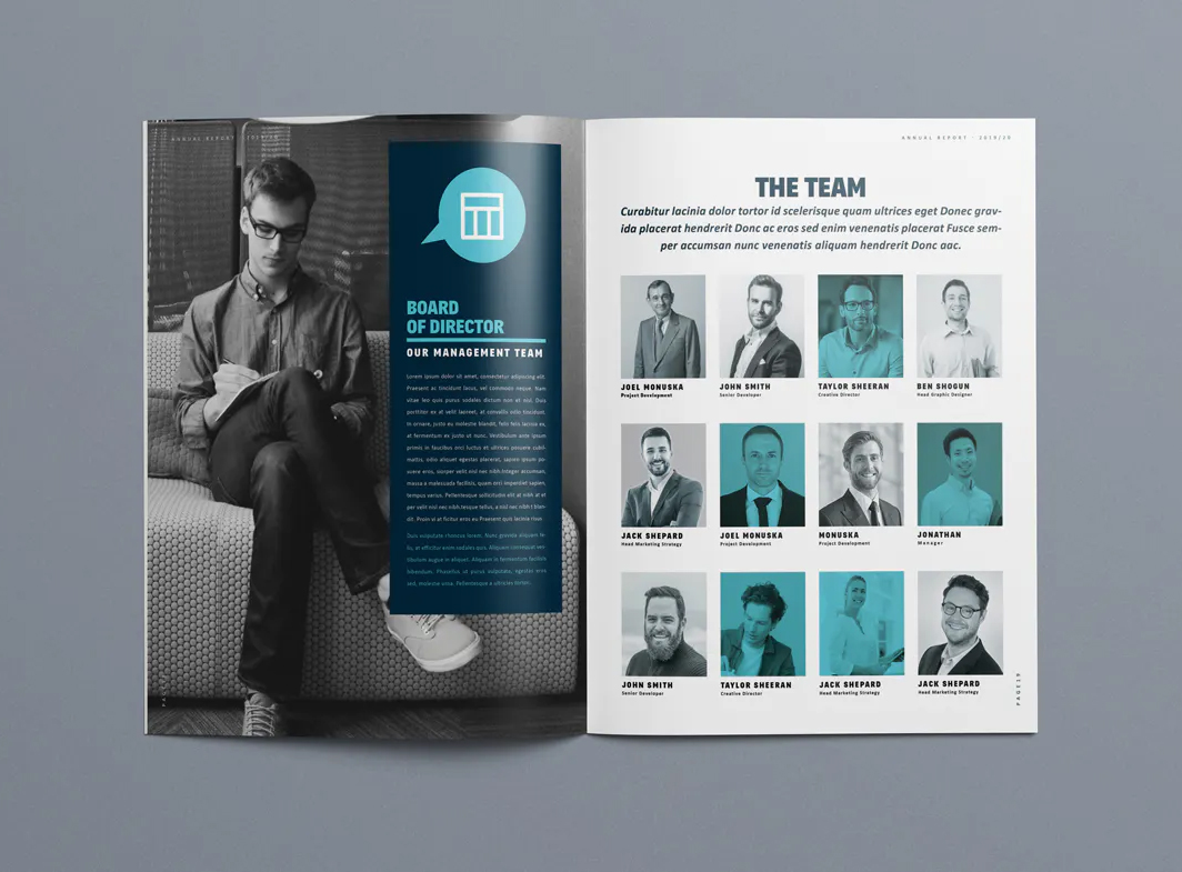 Business annual report design