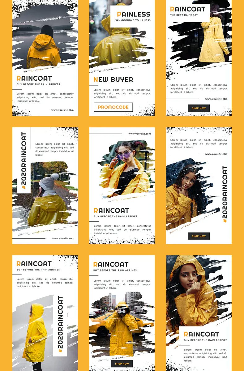 Fashion brush Instagram story templates