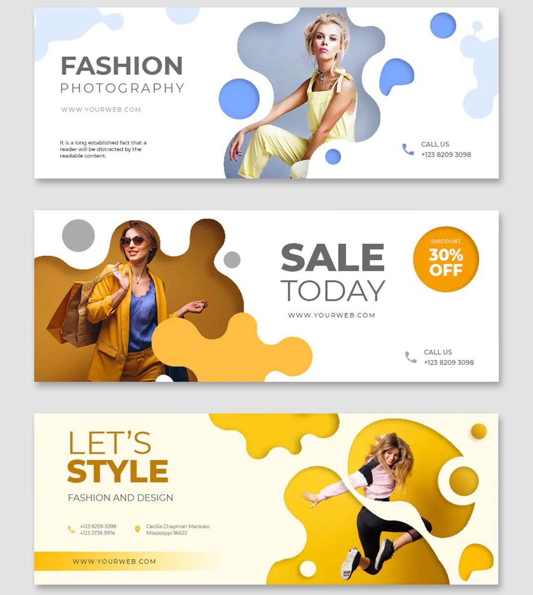 Fashion promo Facebook cover template