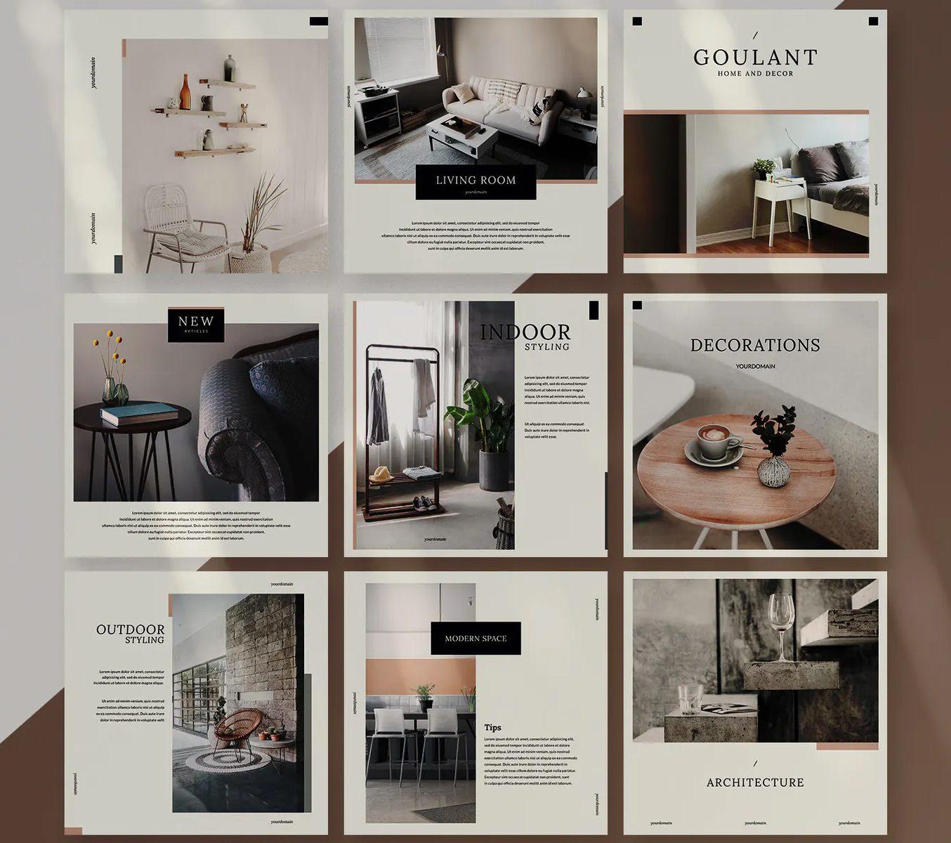 Interior social media design