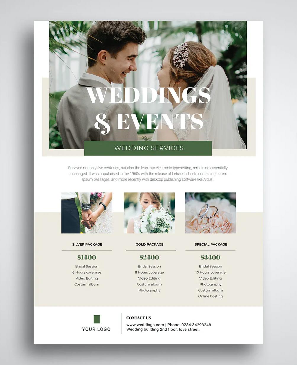 Wedding Promo Flyer Template Ksioks