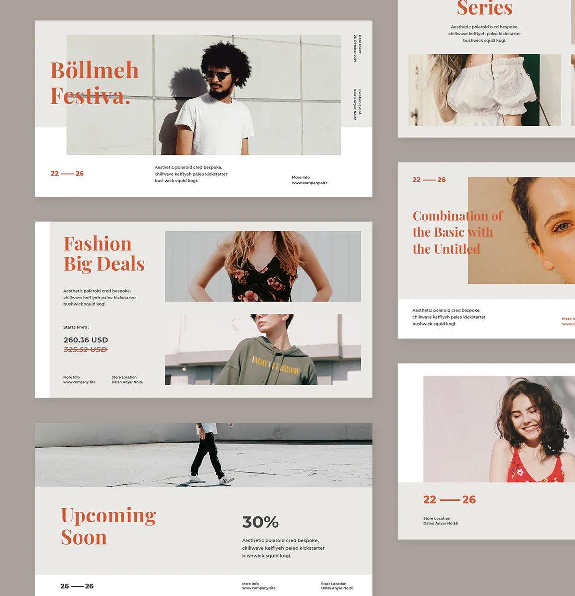 6 Fashion Facebook Banner Design