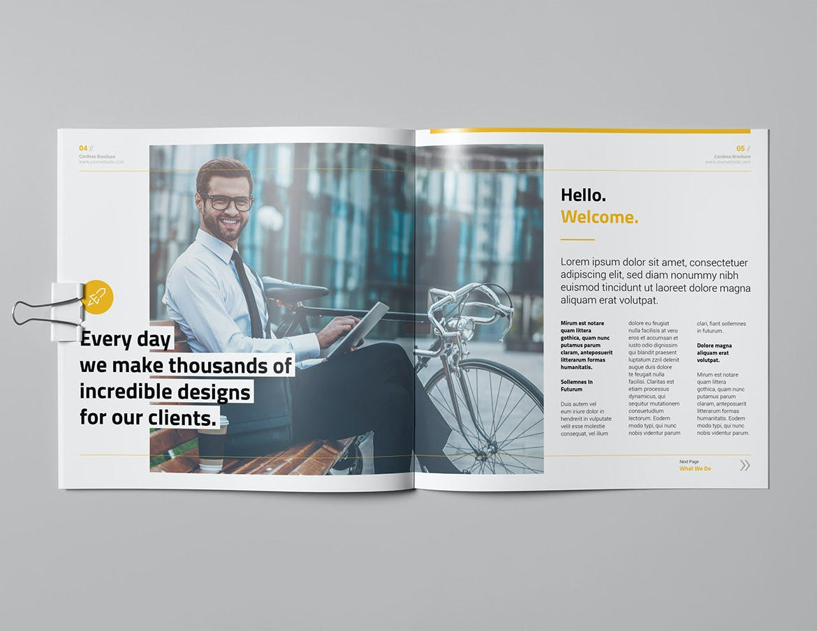 Business Square Brochure InDesign