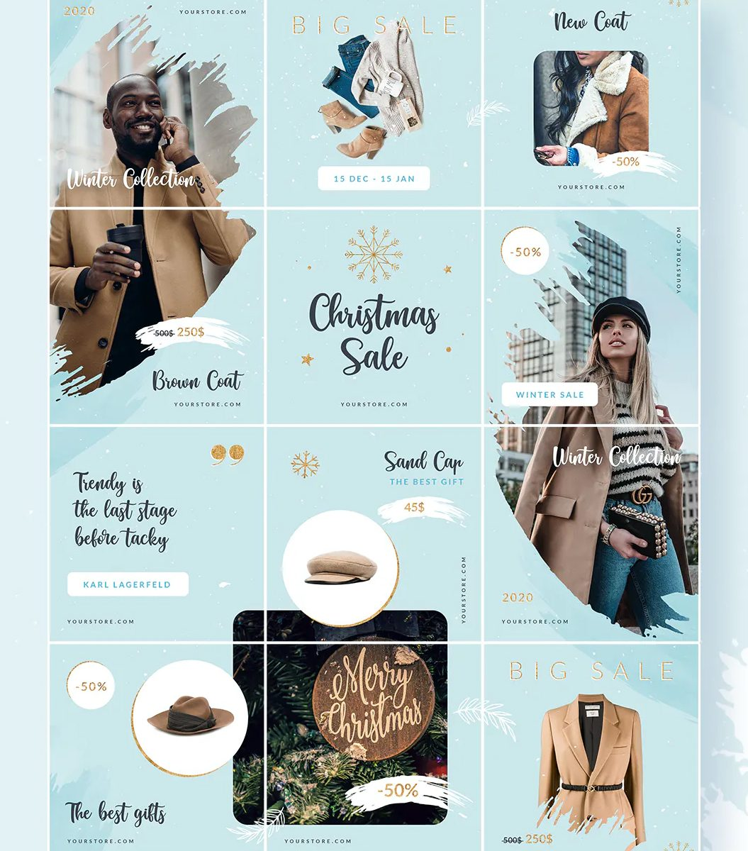 Christmas Fashion Sale Instagram Puzzle Template