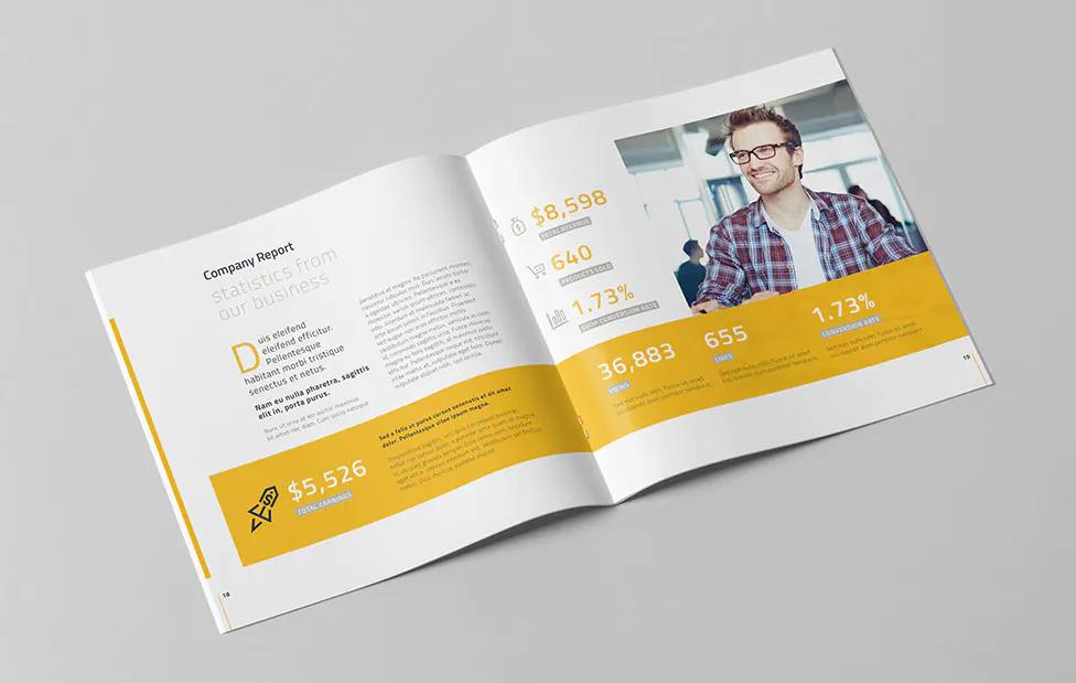 Company Profile Square Brochure Design