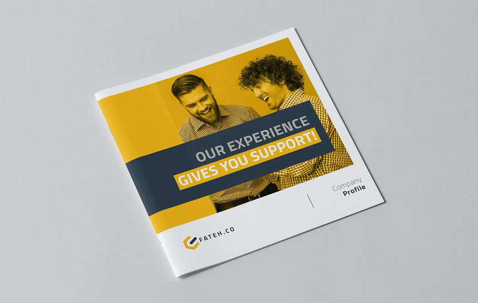 Company Profile Square Brochure Template