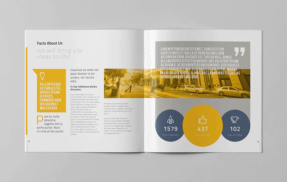 Company Profile Square Design