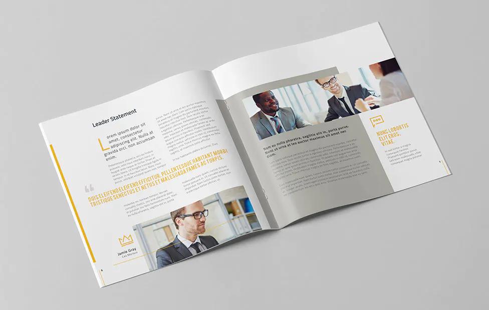 Company Profile Square Template INDD