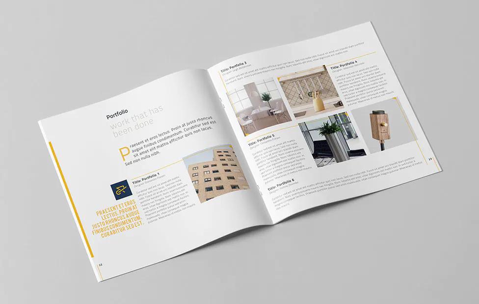 Company Profile Square Template