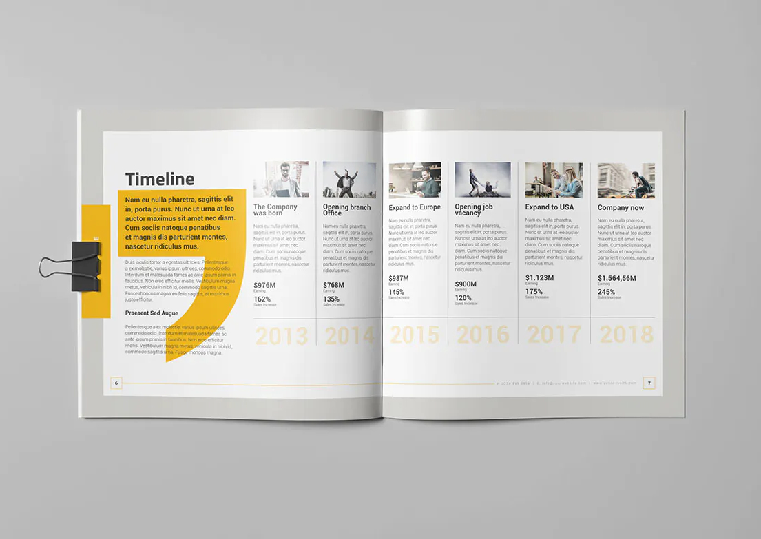 Corporate Square Brochure InDesign
