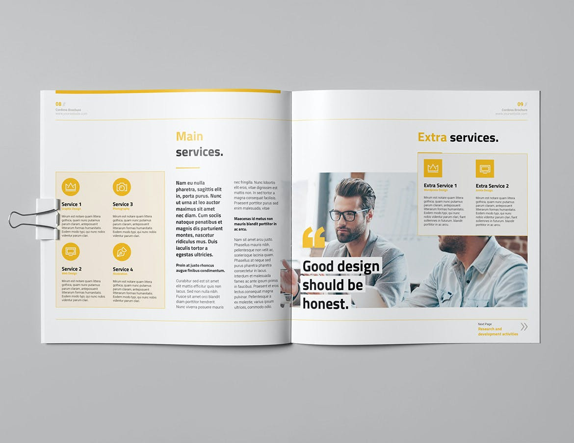 Corporate Square Brochure Template InDesign