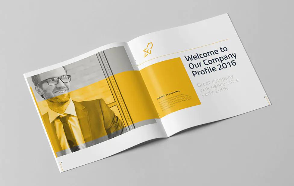 Corporate Square Brochure Template