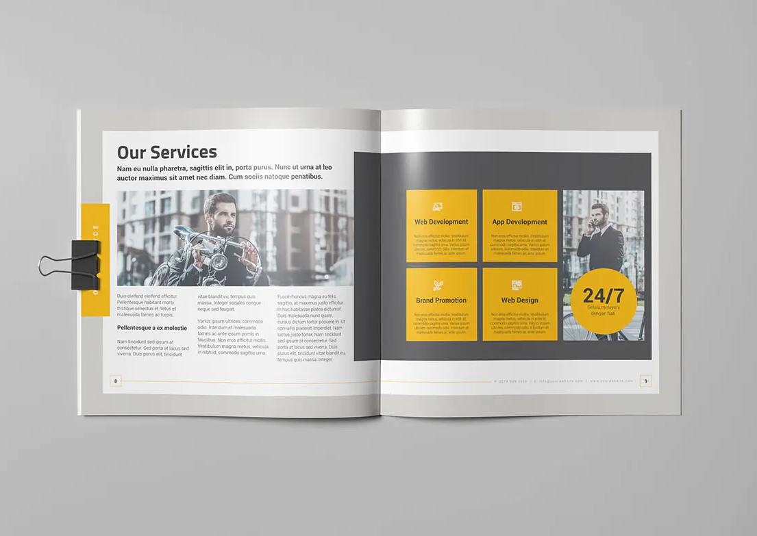 Creative Business Square Brochure Design