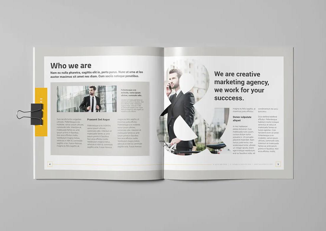 Creative Business Square Brochure Template