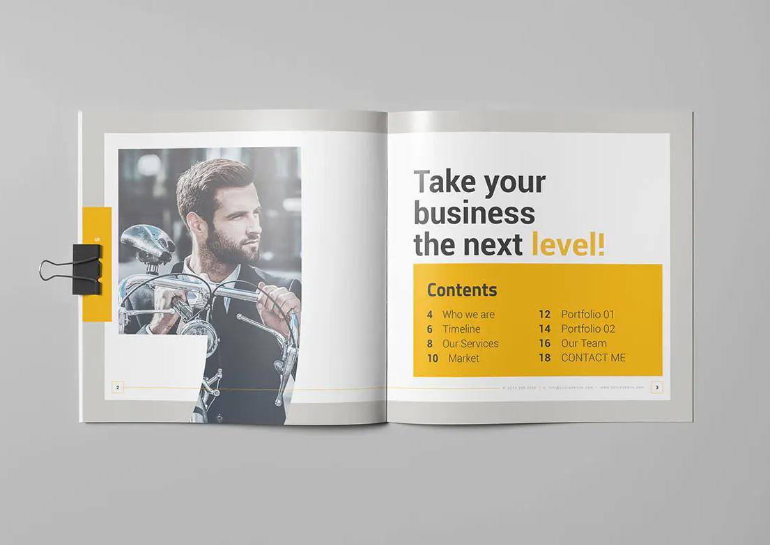 Creative Square Brochure Design