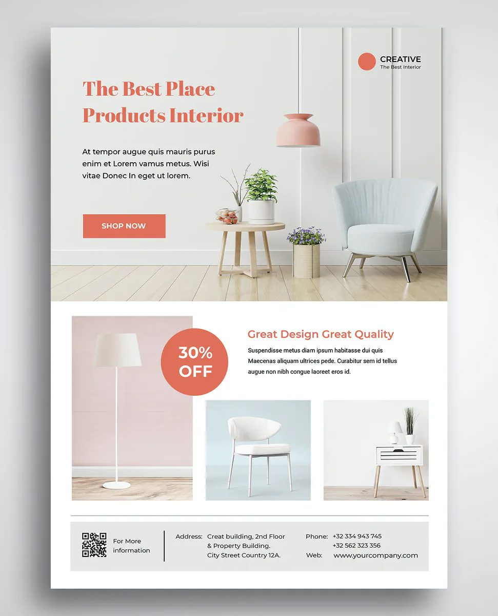 Interior Furniture Flyer Design