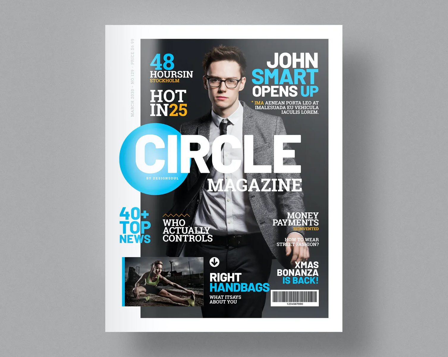 Magazine Template INDD and IDML