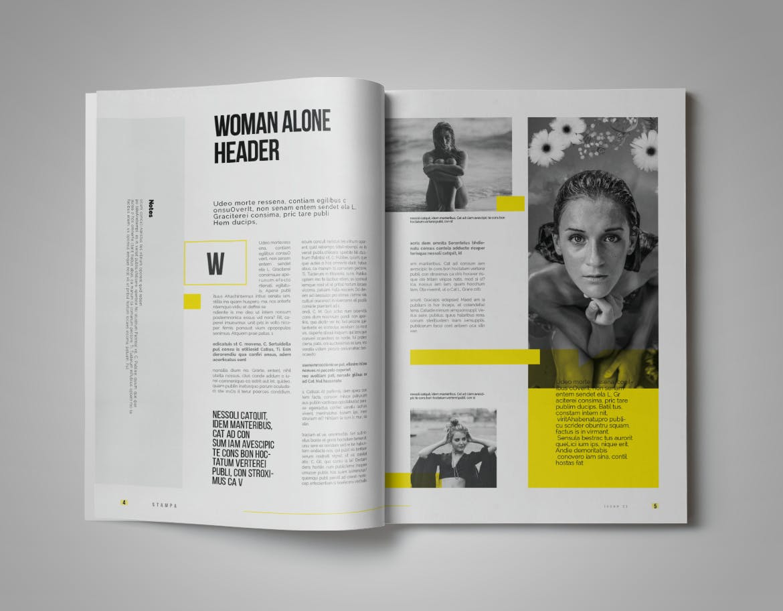 Minimal Clean Magazine Template