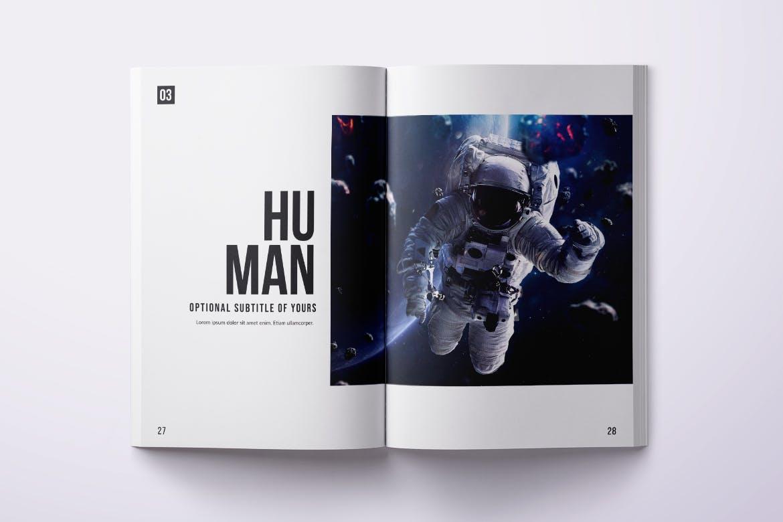 Photo Magazine Design Template PSD