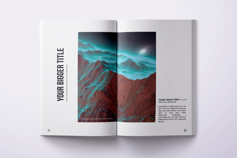 Photography Magazine Template PSD