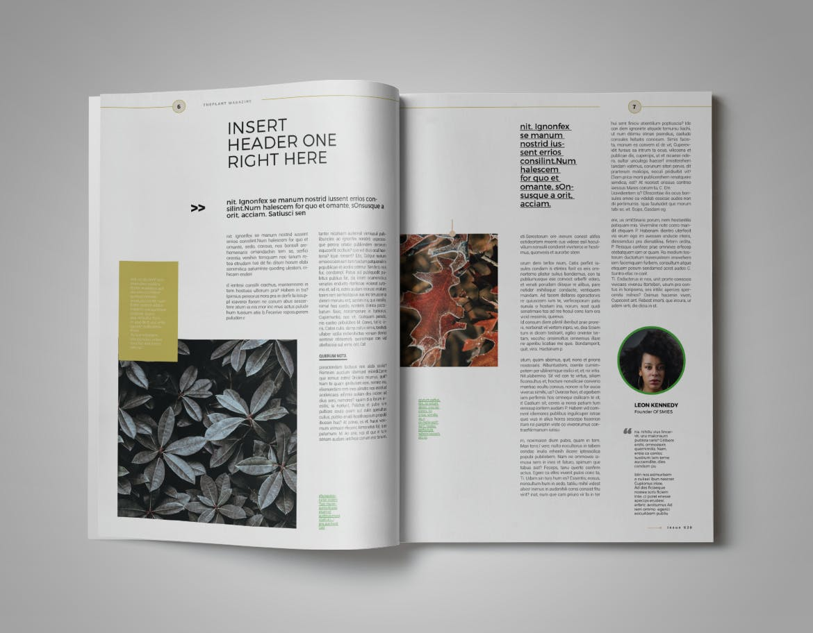 Plant Magazine Layout