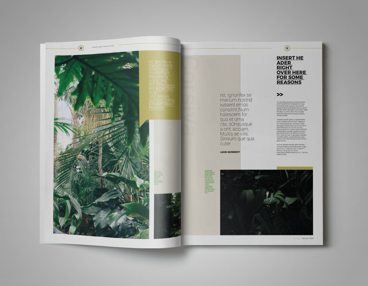 Plant Magazine Template InDesign