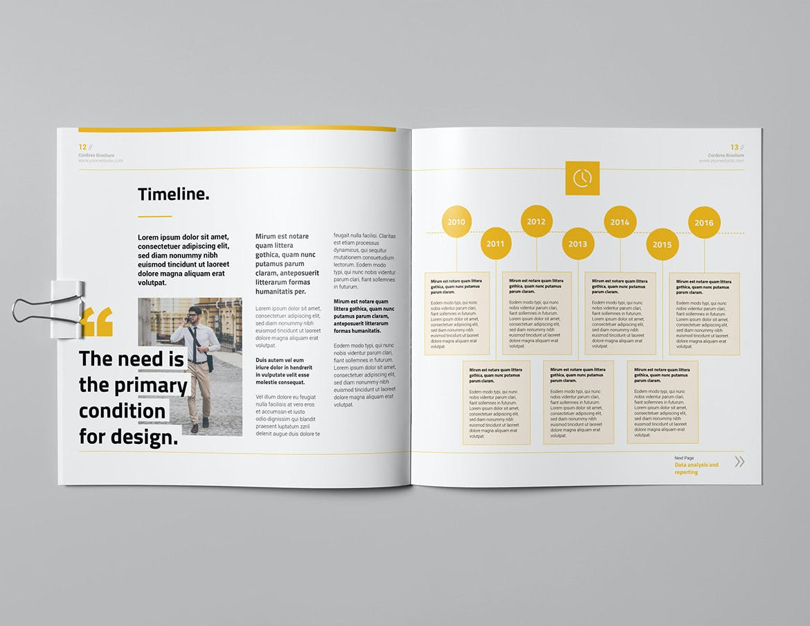 Proposal Square Brochure Template InDesign