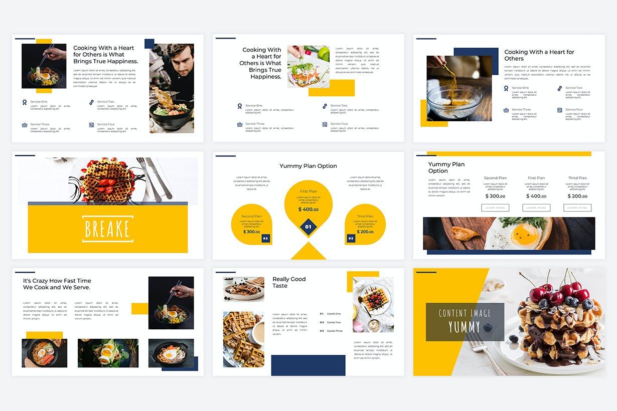 Restaurant Food PowerPoint Template