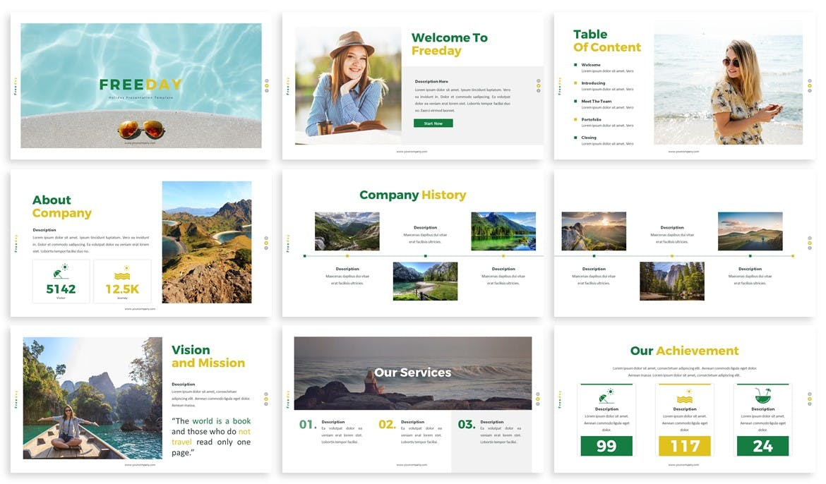 Traveling PowerPoint Presentation Template