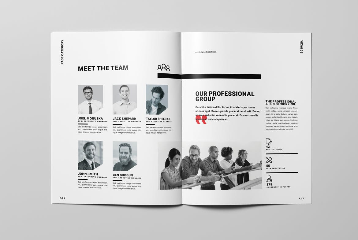 Annual Report Brochure Template INDD