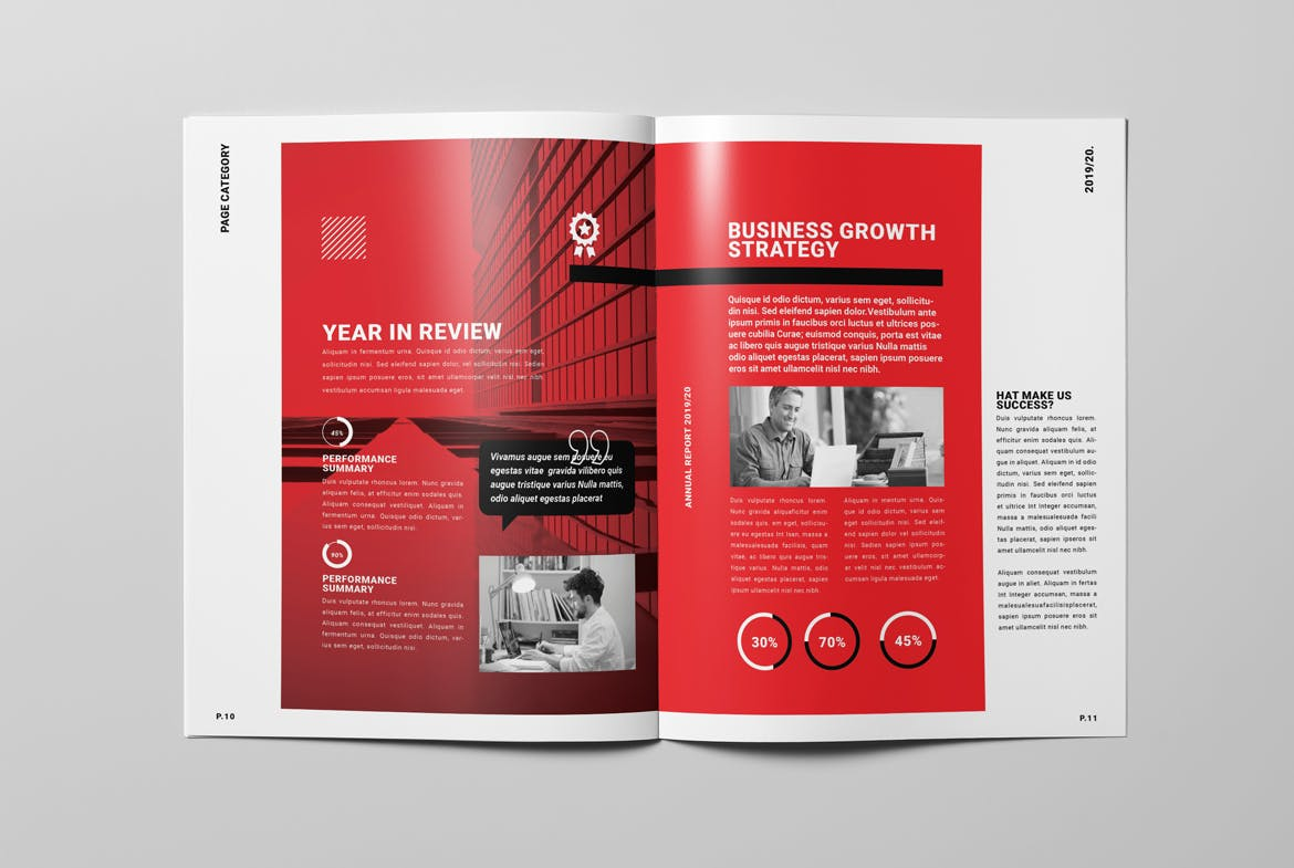 Annual Report Brochure Template InDesign