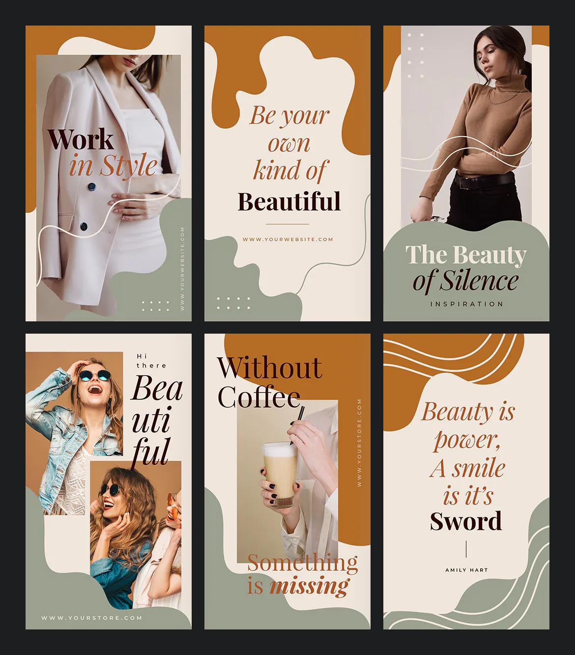 Beauty Instagram Stories Template