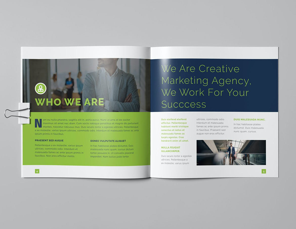 Creative Square Brochure Design InDesign