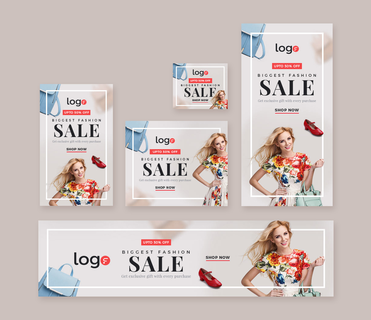 Fashion Sale Web Banners Template