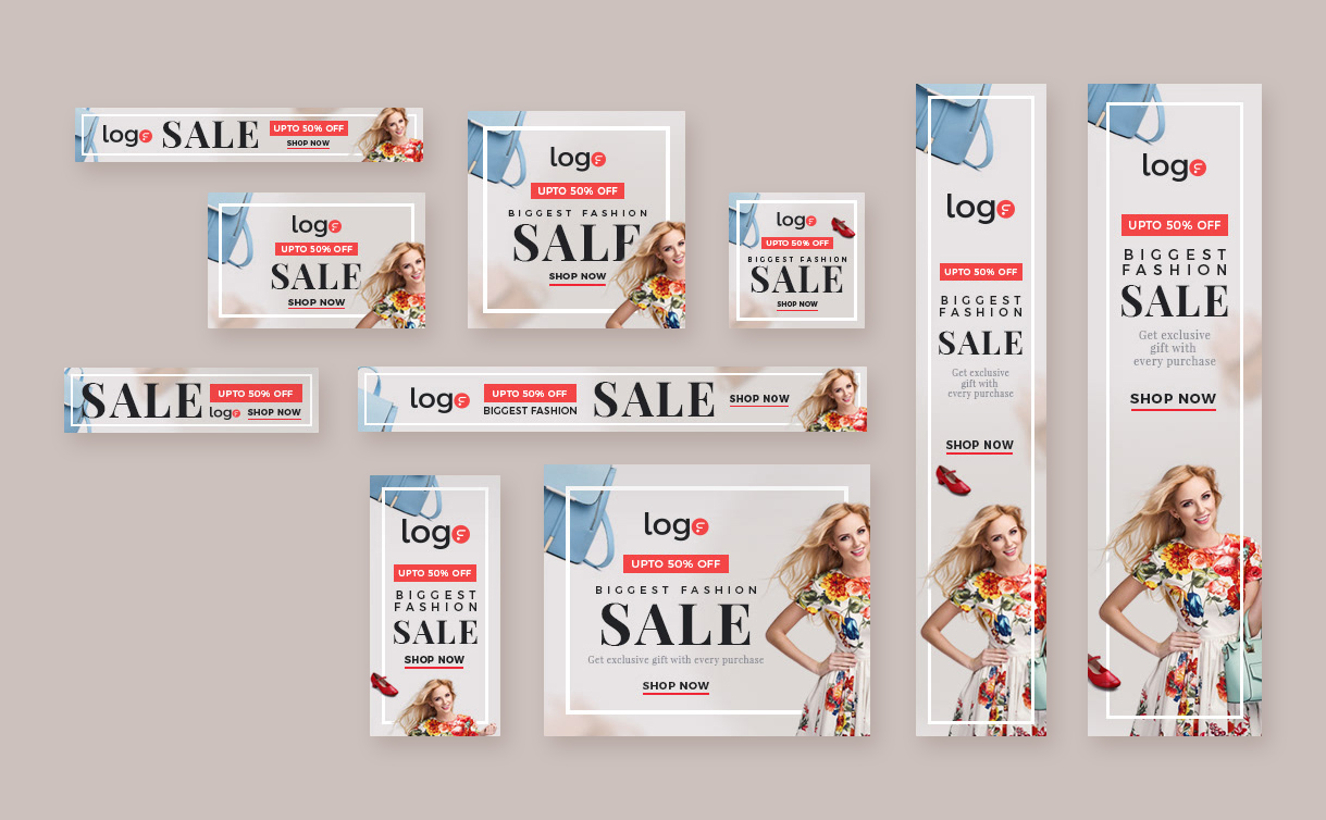 Fashion Web Banners Template PSD
