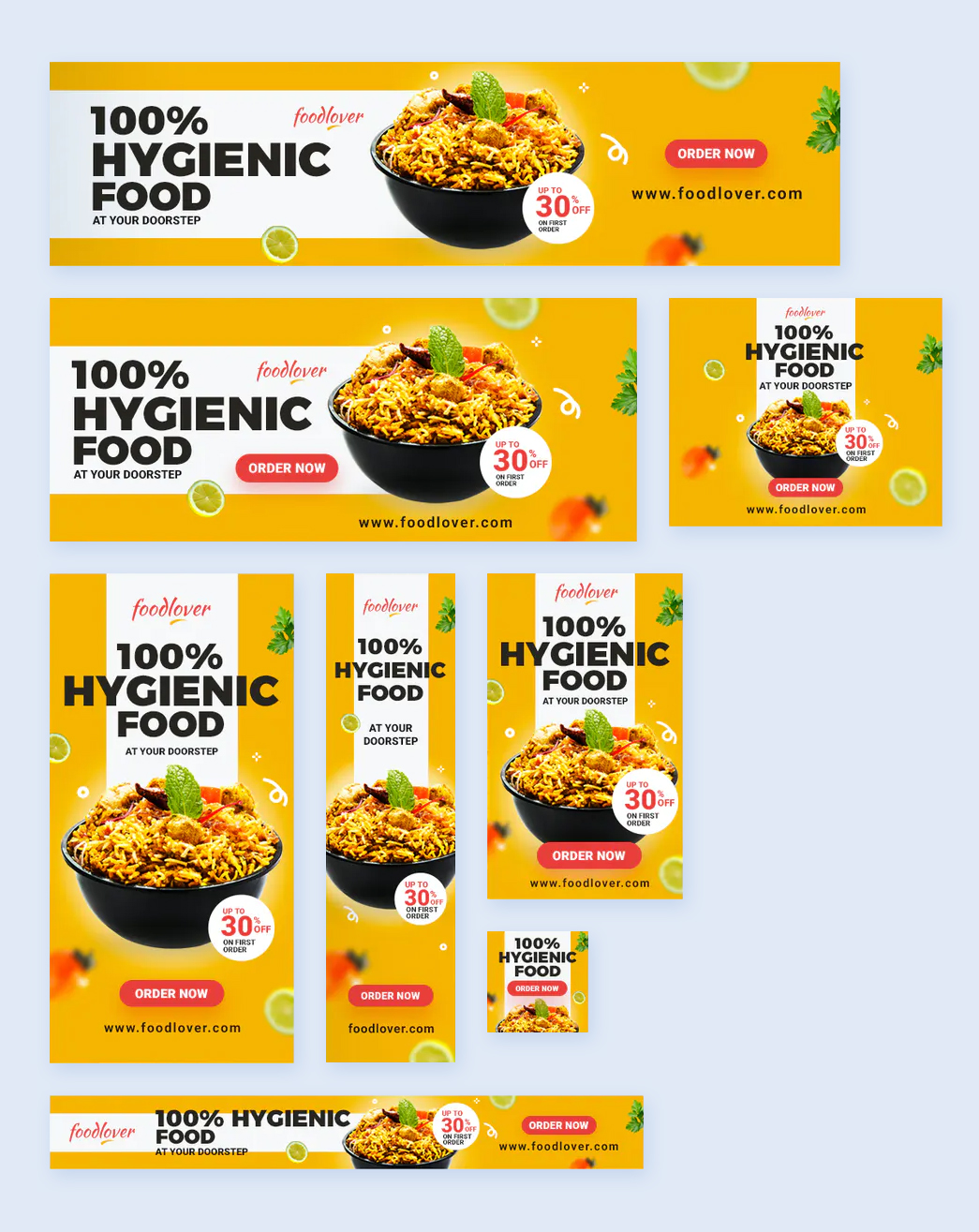 Food and Restaurant Web Banners Template
