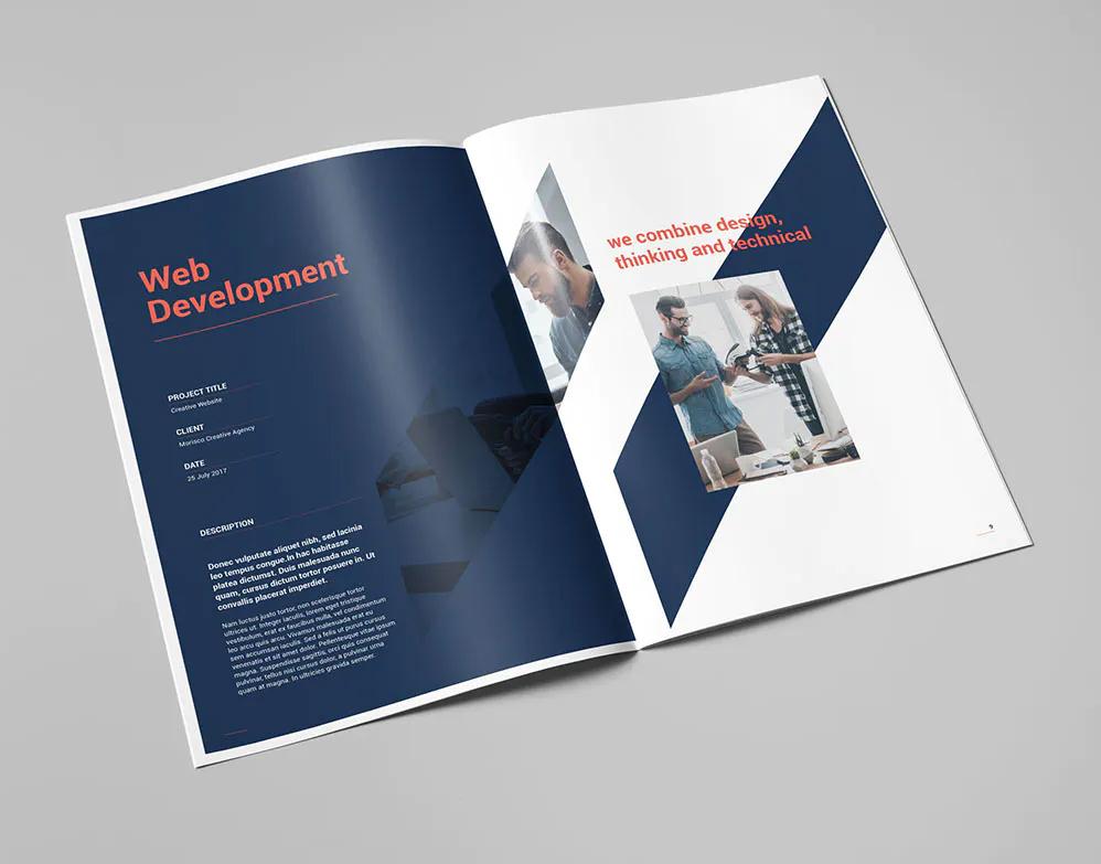 Portfolio Brochure Design Template INDD