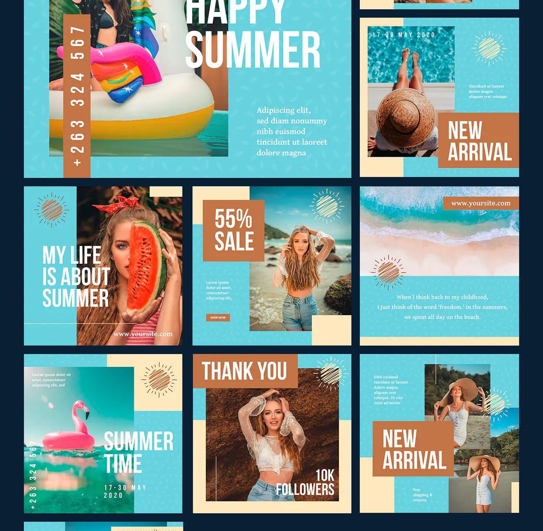 Summer Fashion Social Media Templates