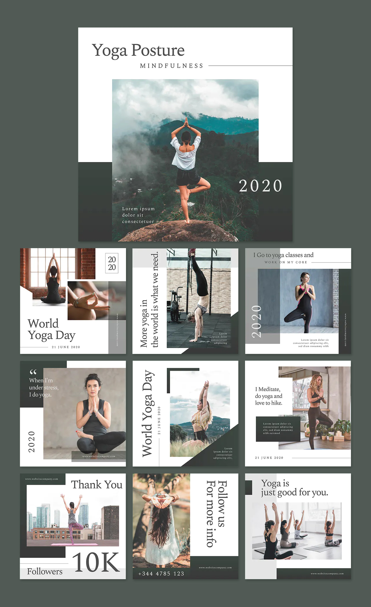 Yoga Studio Social Media Templates