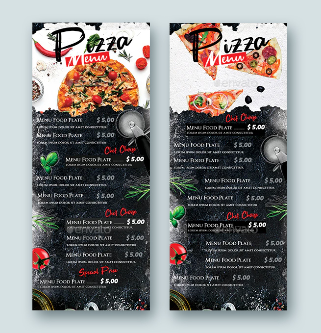 Pizza Menu Design DL Flyer