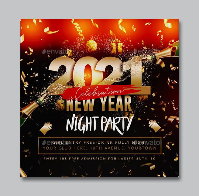 2021 New Year Flyer Template