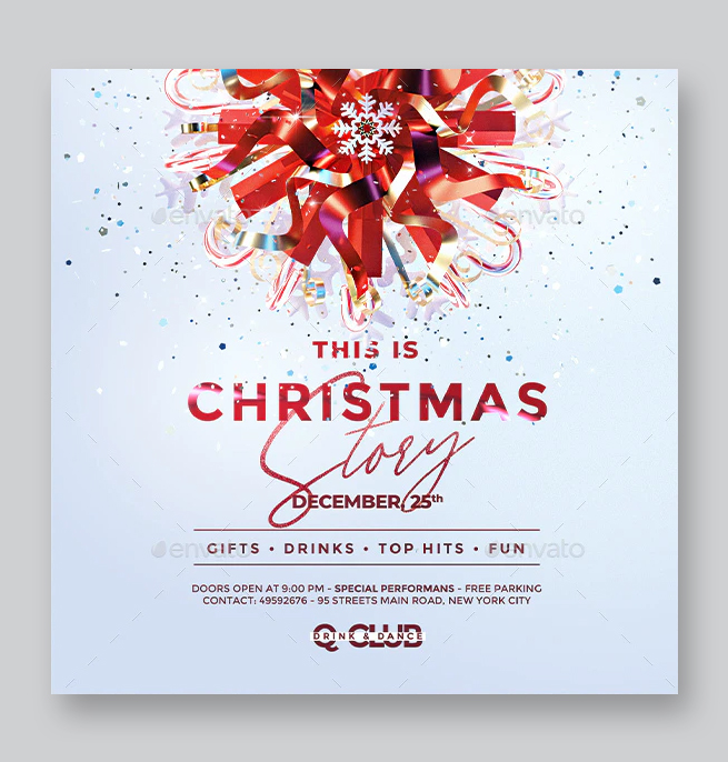 Christmas Celebration Square Flyer Template