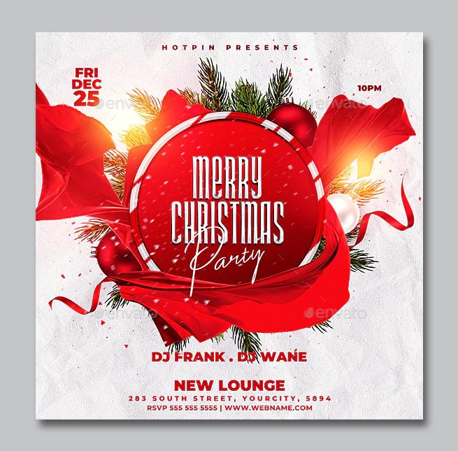 Christmas Flyer Design PSD Template