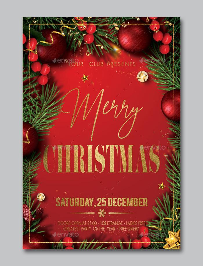 Christmas Flyer PSD Design Template