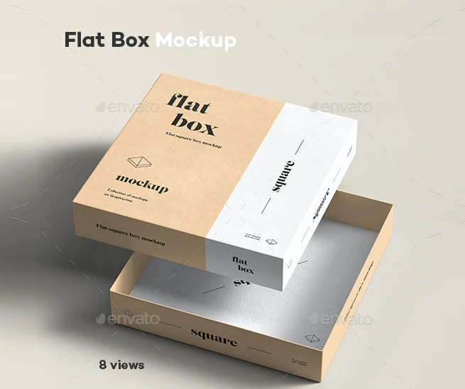 Flat Box Mockup