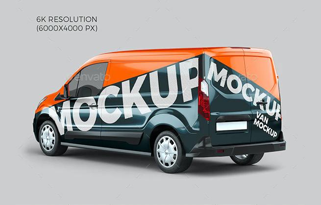 Ford Transit Connect Van Mockups