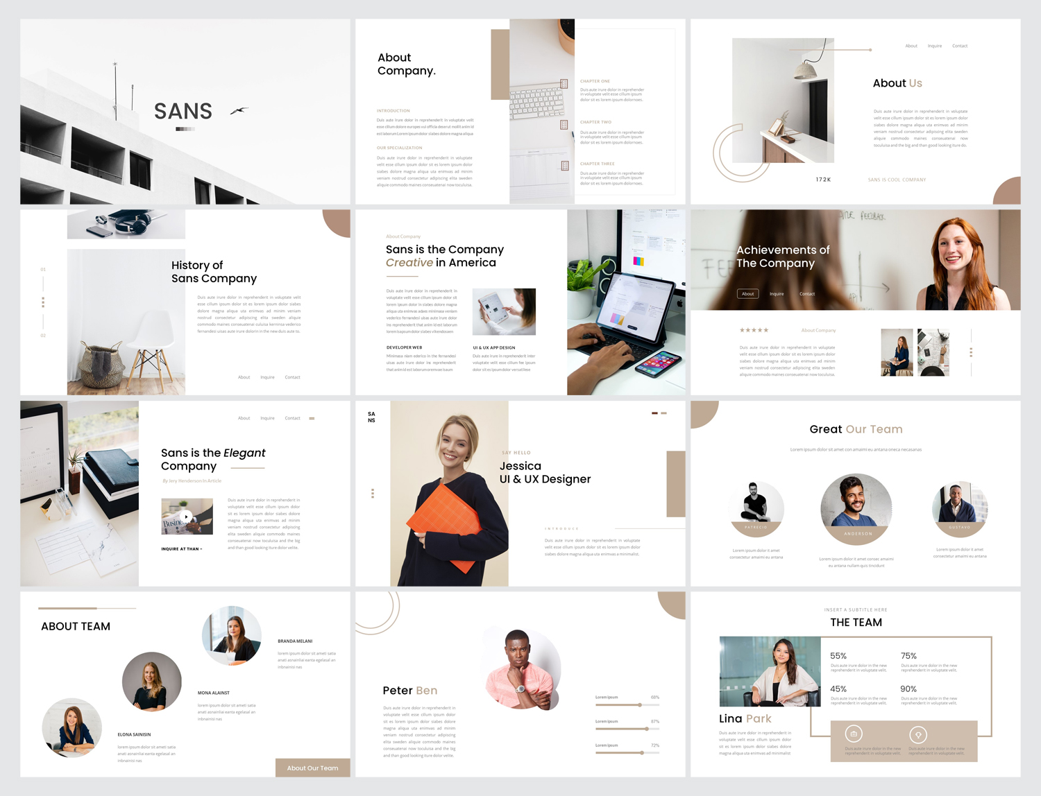 Minimalist Business Google Slides Template