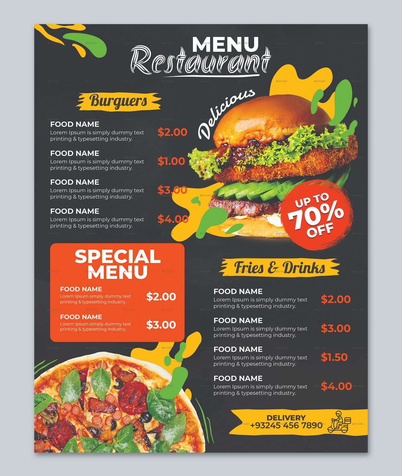Restaurant Food Menu Design